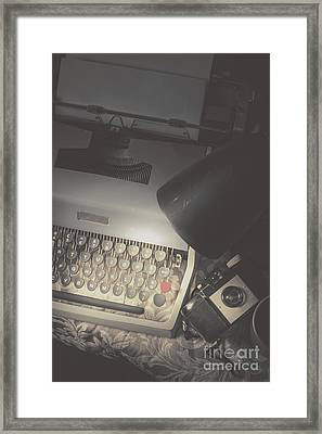 Desk Of A Vintage Private Eye Investigator Framed Print by Jorgo Photography - Wall Art Gallery