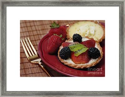 Dessert Tarts Framed Print by Amy Cicconi