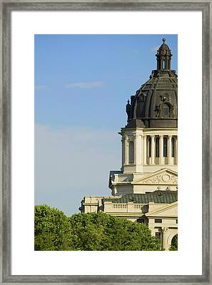 Detail Of Dome Of South Dakota State Framed Print