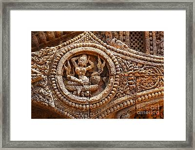 Detail Of The Sun Temple At Konark In India Framed Print by Robert Preston