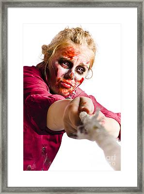 Determined Woman With Rope Framed Print by Jorgo Photography - Wall Art Gallery