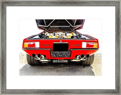 Detomaso Pantera Gts Framed Print by Roger Mullenhour