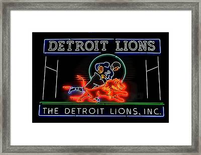 Detroit Lions Football Framed Print by Frozen in Time Fine Art Photography