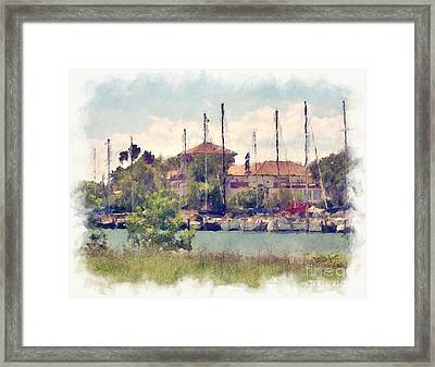 Detroit Yacht Club Framed Print
