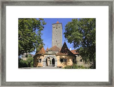 Deutschland, Bayern, Rothenburg Ob Der Framed Print