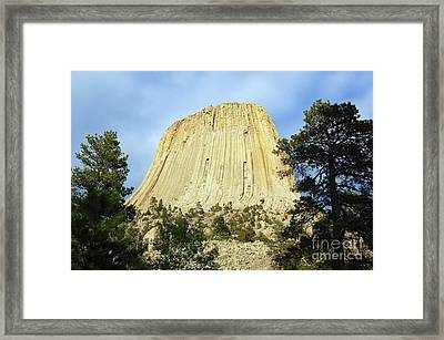 Framed Print featuring the photograph Devils Tower National Monument Wyoming Usa by Shawn O'Brien