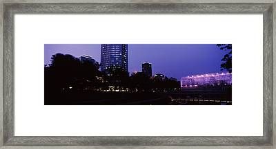 Devon Tower And Crystal Bridge Tropical Framed Print by Panoramic Images