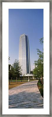 Devon Tower In The Downtown, Oklahoma Framed Print by Panoramic Images