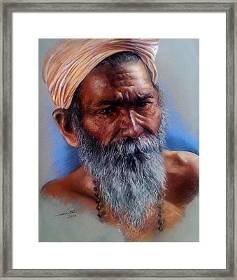 Devotee Framed Print by Arti Chauhan