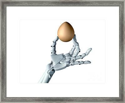 Dexterous Robot Framed Print