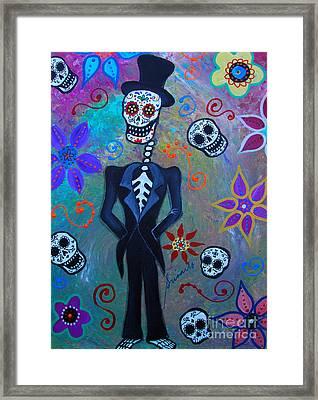 Dia De Los Muertos Professor Framed Print by Pristine Cartera Turkus
