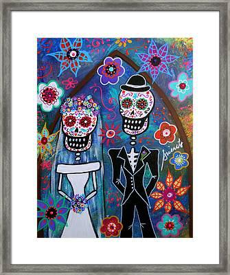 Dia De Los Muertos Wedding Framed Print