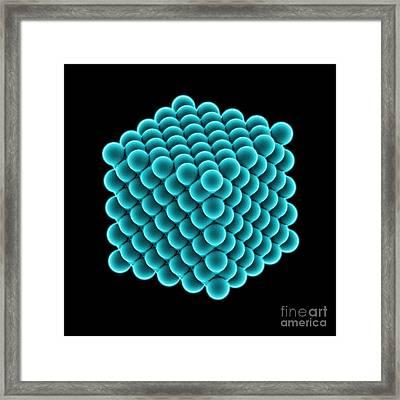 Diamond Crystal, Molecular Model Framed Print by Laguna Design