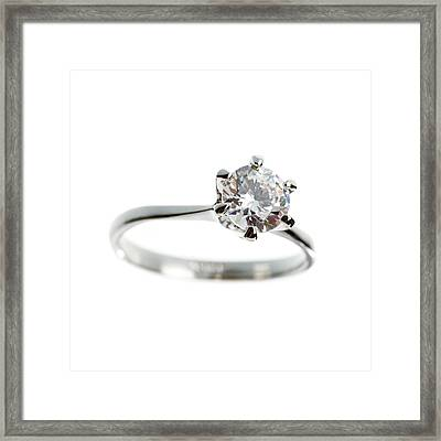 Diamond Ring Framed Print by Science Photo Library