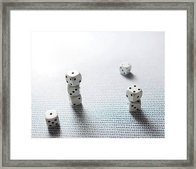 Dice And Dna Framed Print by Robert Brook
