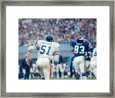 Dick Butkus Framed Print by Retro Images Archive
