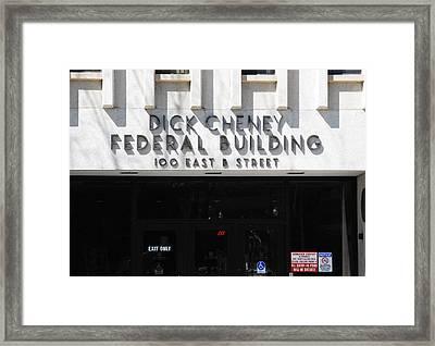 Dick Cheney Federal Bldg. Framed Print by Oscar Williams
