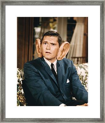 Dick York In Bewitched  Framed Print