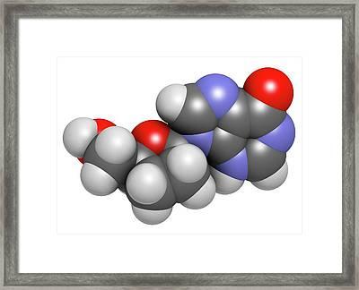 Didanosine Hiv Drug Molecule Framed Print
