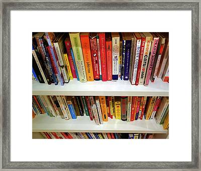 Diet Books Framed Print by Cordelia Molloy