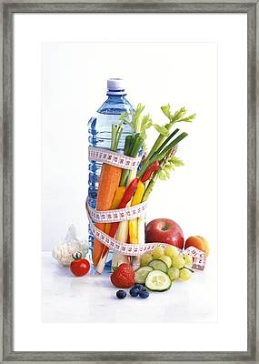Dieting, Conceptual Image Framed Print by Science Photo Library