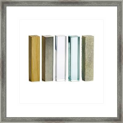 Different Solid Materials Framed Print by Science Photo Library