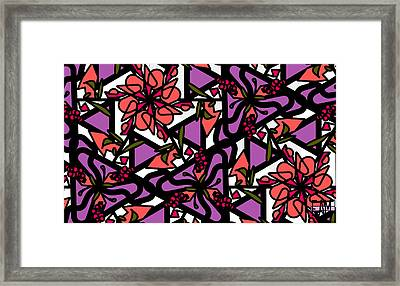 Framed Print featuring the digital art Digi-flora by Elizabeth McTaggart