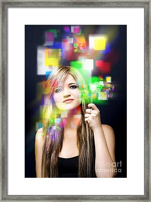 Digital Future Of Business Communication Framed Print by Jorgo Photography - Wall Art Gallery