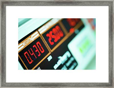 Digital Measuring Devices Framed Print by Wladimir Bulgar