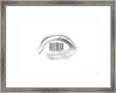 Digital Romance Framed Print