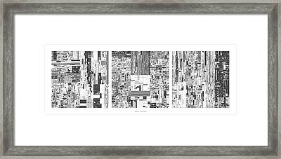 Digits Of Pi Phi And E In A 6 Level Treemap Framed Print by Martin Krzywinski