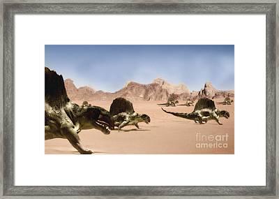 Dimetrodons, Artwork Framed Print by Christian Darkin