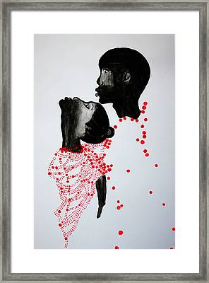 Dinka Marriage - South Sudan Framed Print by Gloria Ssali