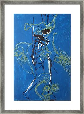 Dinka Painted Lady - South Sudan Framed Print by Gloria Ssali