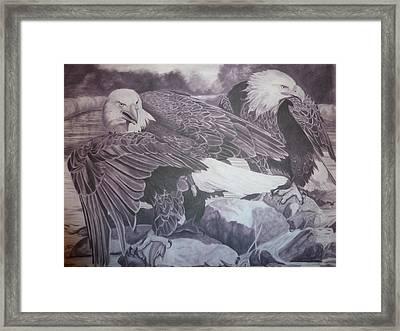 Dinner For Two  Framed Print by Christine  Blodgett
