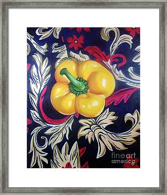 Dior's Pepper Framed Print by Shelley Laffal