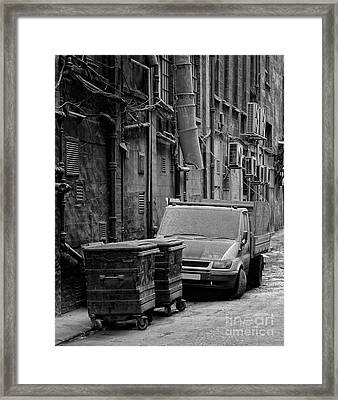 Dirty Back Streets Mono Framed Print