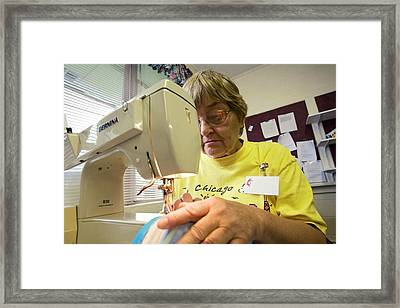 Disaster Relief Centre Framed Print by Jim West