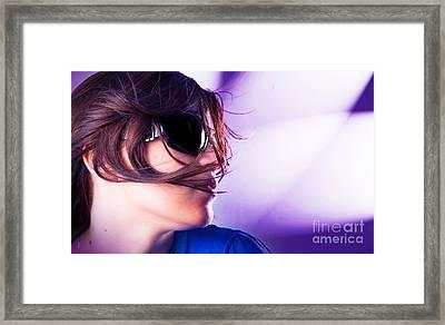 Disco Girl Framed Print by Michal Bednarek