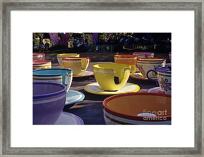 Disneyland Rides Mad Tea Party Ride Anaheim California Usa Framed Print