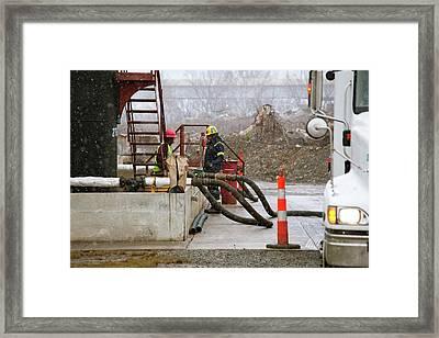 Disposal Of Fracking Waste Framed Print