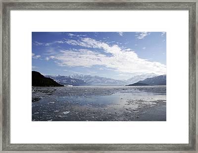 Distant Glacier Framed Print