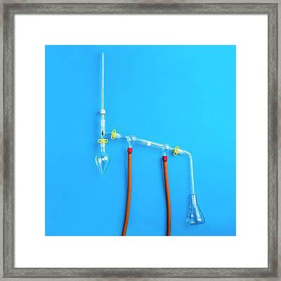 Distillation Apparatus Framed Print