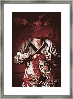 Disturbed Evil Boogieman Without Head Framed Print