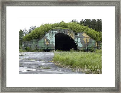 Disused Hardened Aircraft Shelter Framed Print by RIA Novosti