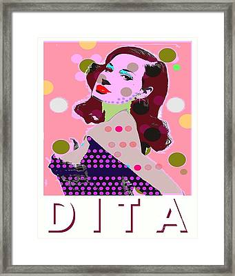 Dita Framed Print by Ricky Sencion