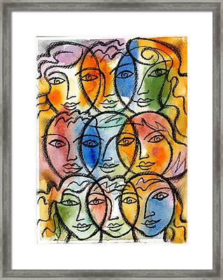 Diversity Framed Print by Leon Zernitsky