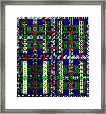 Divided Cross Framed Print