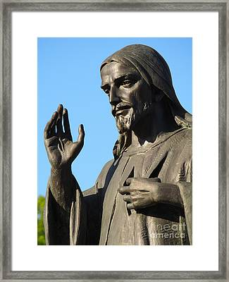 Divine Mercy Statue Framed Print
