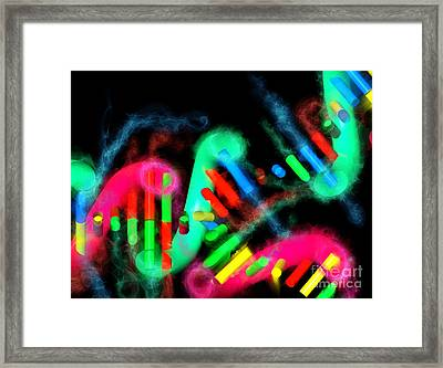 Dna Dreaming 7 Framed Print by Russell Kightley